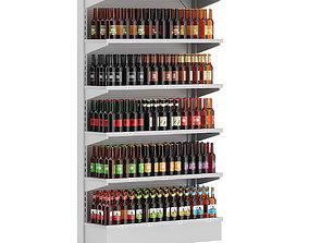 Market Shelf - Bottled Beer 3D model