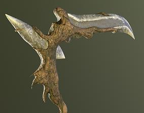 3D model Scythe Druid weapon