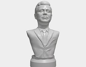 JFK 3D printable portrait sculpture jfkstl