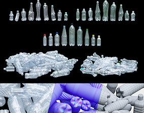 3D asset low-poly debris Plastic bottle