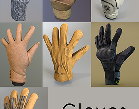 Gloves Pack 3D asset low-poly