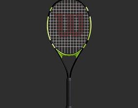 Tennis Racket Subdiv Ready 3D asset