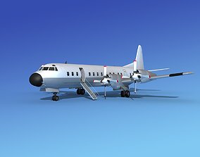 3D Lockheed L-188 Electra HP Unmarked 1