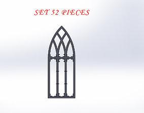 3D printable model SET OF GOTHIC WINDOWS door