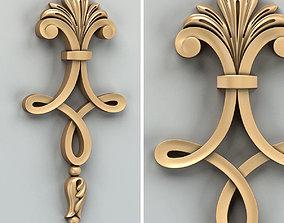 Carved decor vertical 015 3D