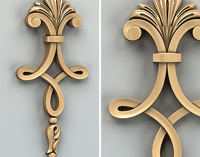 3D model Carved decor vertical 015