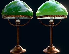 3D asset Vintage desk lamp with green shade