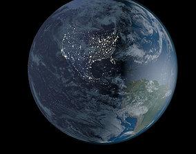 3D nebula Planet Earth