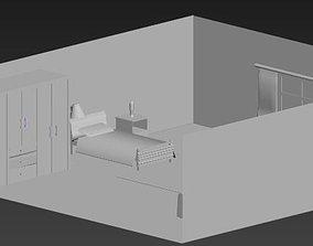 bedroom 3D print model Bedroom