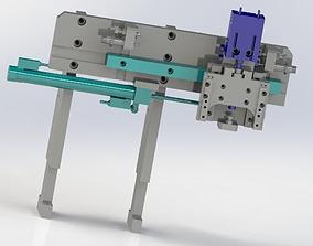 3D model XZ two axial pneumatic manipulator
