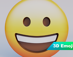 game-ready Grinning Face 3D Emoji