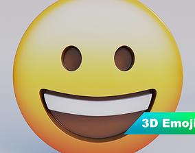 game-ready Grinning Face 3D Emoji
