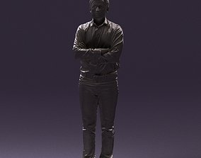 Man in white tshurt close pose 0890 3D Print