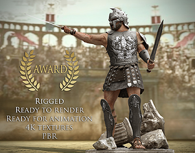 3D model Roman Gladiator Warrior