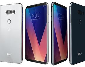 3D LG V30 Cloud Silver And Moroccan Blue