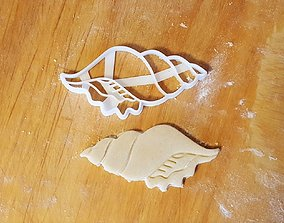 Shell cookie cutter v2 3D print model