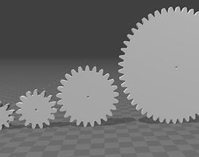 3D printable model Cog-wheels 9 to 50 teeth m2 h5 d2