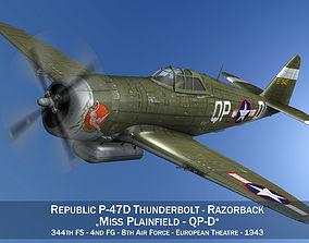 3D model Republic P-47D Thunderbolt - Miss Plainfield