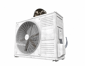 3D Air conditioner outdoor 4a architectural