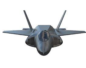 3D asset Aircraft fighter jet F-22 Raptor