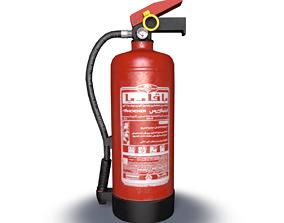 3D model VR / AR ready PBR fire extinguisher