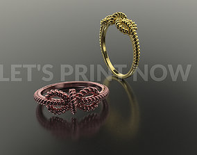 3D printable model luxury 3dcad Twisted Ring