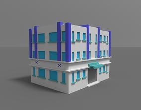 Voxel Miami Hotel 5 3D model