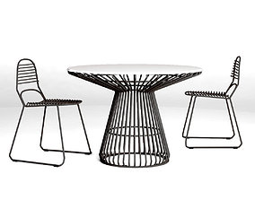 3D Tait Jak and Jil Chair and Table