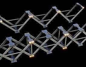 3D model Cyberpunk bridge foundations - sci fi kit