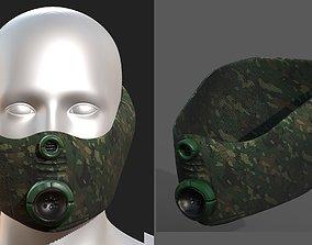 low-poly Gas mask helmet 3d model scifi 1
