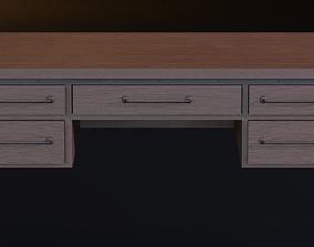 Office Desk 3D asset VR / AR ready PBR