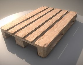3D EUR Wood Pallet - High-Poly Version