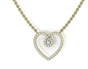 Heart Necklace with diamonds printable 3dmodel N10333