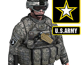 US Army Infantry with IOTV armor 3D