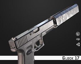 low-poly Glock 17 - Model and Textures