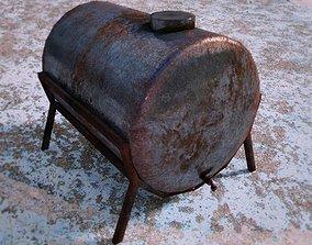 rusty water storage tank 3D model
