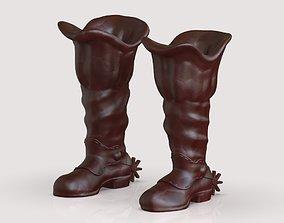 3D printable model cowboy boots