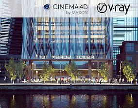3D model VRay - C4D Scene Files - 101 MEADE TOWER