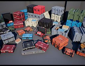 3D asset Sci Fi Cases Pack UE4 Unity