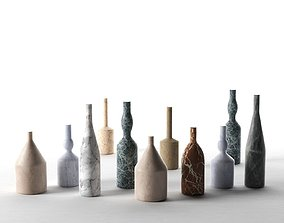 Omaggio a Morandi Decorative Bottles 3D