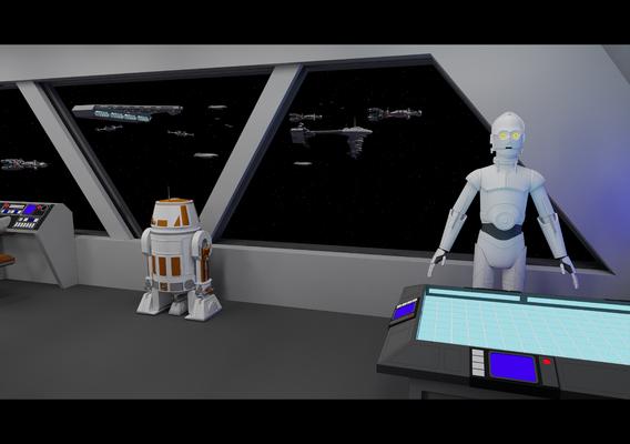 Arriving at the Rebel Fleet - Star Wars - Fan Art