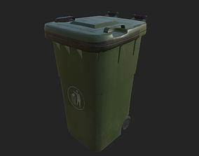 3D asset City Garbage Bin Small