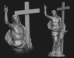 Christ Risen Statue 3D print model