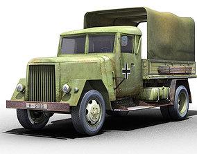 3D asset German WWII Henschel Truck