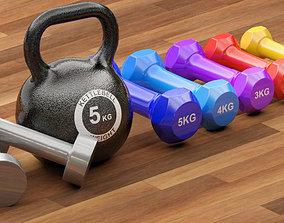 workout Gym Equipment 3D