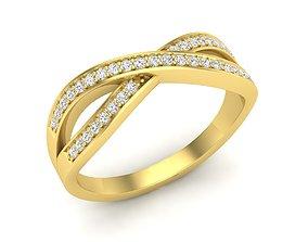 Infinity Crossover Swirl Wedding 3D printable model 3