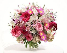Pink Flower Arrangement 3D model