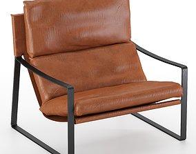 3D model David Modern Leather Armchair