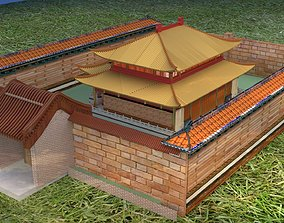 3D Chinese ancient house architectural orient