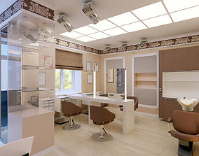 Hair and Beauty salon interior 3D model